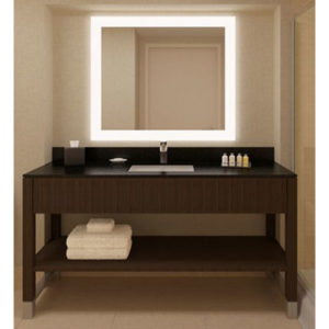 Granite Vanity with Wooden Base